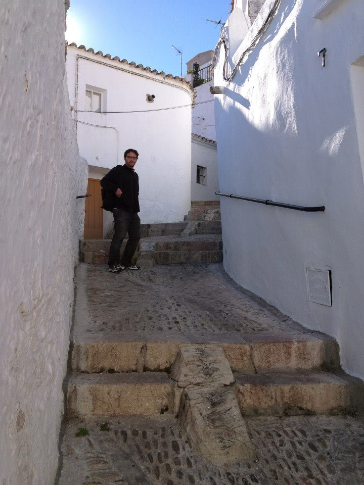 One of the many narrow 45 degree angle streets typical of Arcos